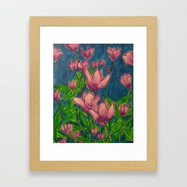 Lavender Flowers Framed Art Print