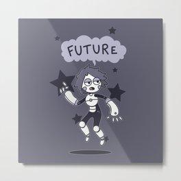 Future Girl Metal Print