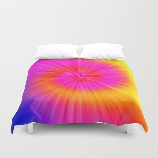 TIE DYE #1 (Rainbow Colors) Duvet Cover
