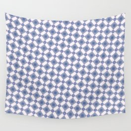 Hynotic blue squares Wall Tapestry