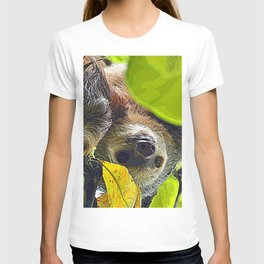 AnimalPaint_Sloth_20171201_by_JAMColors T-shirt