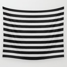 Sleepy Black and White Stripes Wall Tapestry