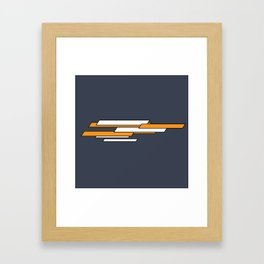 Simple Minimal Glitch Framed Art Print