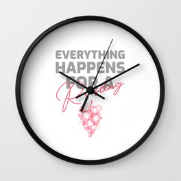 Everything happens for a Riesling funny pun Wall Clock