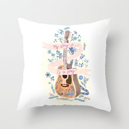 My story is a song Throw Pillow