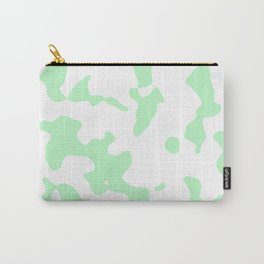 Large Spots - White and Light Green Carry-All Pouch