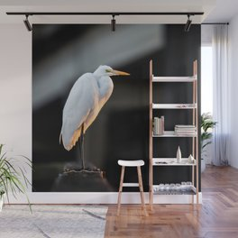 Great Egret at Sunset Wall Mural