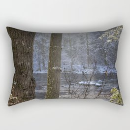 Sunbreak on a Snowy Day Rectangular Pillow