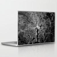 washington Laptop & iPad Skins featuring washington map by Line Line Lines