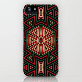 Aztec Hexagon Geometric iPhone Case