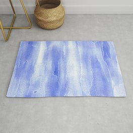 Abstract Aquarelle in blue Rug