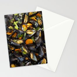Cooked mussels Stationery Cards