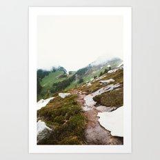 Alpine Meadow Hike Art Print