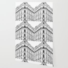 Parisian Facade Wallpaper