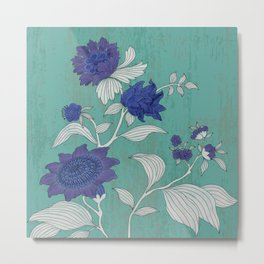 Folk Flower's Branch Metal Print