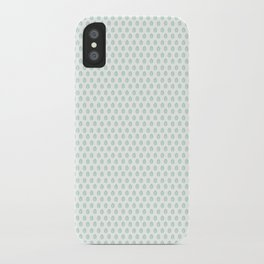 Minty Leaves iPhone Case