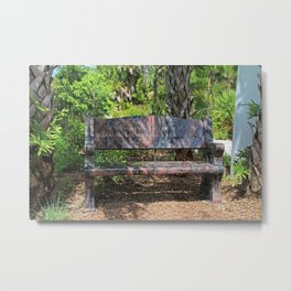 In This garden's Warm Embrace Metal Print