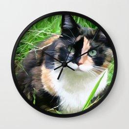 Jasmine In The Grass Wall Clock