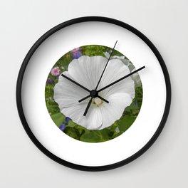 white mallow bloom IIX Wall Clock
