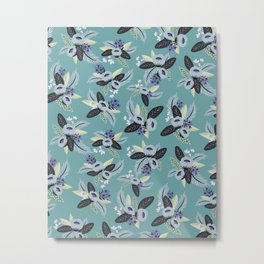 Jane Floral Metal Print
