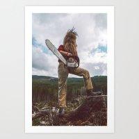 Chainsaw Art Print