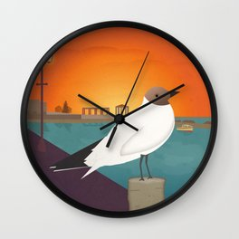 Seabird at Sundown, Lefkada (GR) Wall Clock