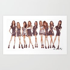K-Pop Watercolor Art Print
