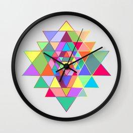 Sri Yantra triangles Wall Clock