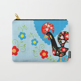 Portuguese Rooster of Luck with blue dots Carry-All Pouch