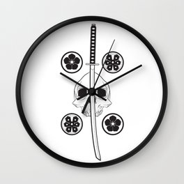 Katana black Wall Clock