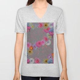 Flowers mixed Unisex V-Neck