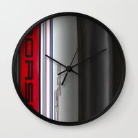 porsche Wall Clocks featuring Porsche 911   by David Pyatt