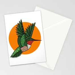 Floral Hummingbird  Stationery Cards