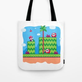 Tiny Worlds - Super Mario Bros. 2: Mario Tote Bag