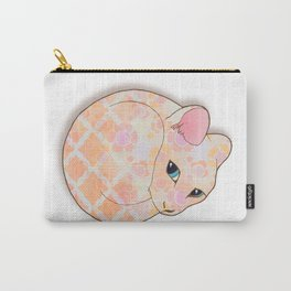 Introvert Kitten - patterned cat illustration Carry-All Pouch
