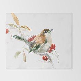 Carolina Warbler Throw Blanket