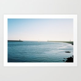 Boats Roaming in the Distance Art Print