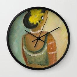 After the dance - Sri Lankan dancing girl Wall Clock