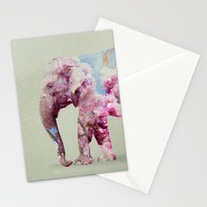 Cherry blossom Elephant Stationery Cards