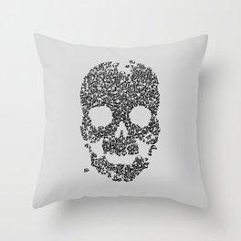 Panda is Cool (Grey) Throw Pillow