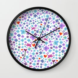 Isa on flower days Wall Clock