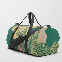 Fantasy Art Deco Woman With Pet Tiger Self culture (edited) - The Werner Company - 1890-1900 Duffle Bag