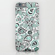 Aqua Paisley Slim Case iPhone 6s