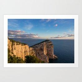 Lighthouse of Capo Caccia Art Print