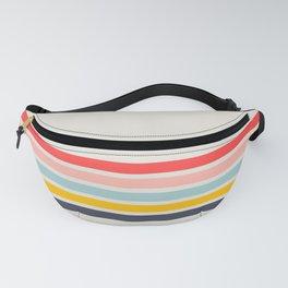 Naomori - Classic Minimal Retro Stripes Fanny Pack