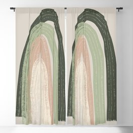 Chive and biscay green rainbow Blackout Curtain