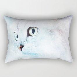 Fluffy starry cat Rectangular Pillow