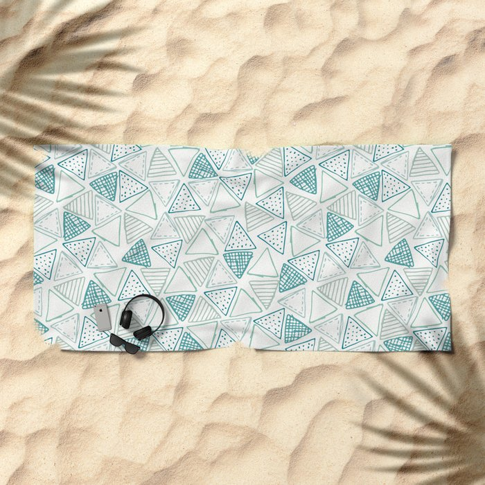 Triangular Pattern Beach Towel