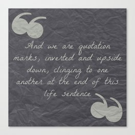 Quotation Mark Dark Canvas Print