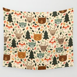 Woodland Creatures Wall Tapestry